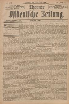 Thorner Ostdeutsche Zeitung. Jg.28, № 253 (27 Oktober 1901) - Zweites Blatt