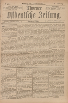 Thorner Ostdeutsche Zeitung. Jg.28, № 259 (3 November 1901) - Zweites Blatt