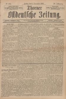 Thorner Ostdeutsche Zeitung. Jg.28, № 263 (8 November 1901) + dod.