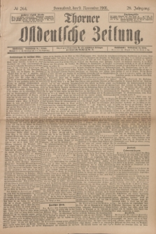 Thorner Ostdeutsche Zeitung. Jg.28, № 264 (9 November 1901) + dod.