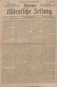 Thorner Ostdeutsche Zeitung. Jg.28, № 266 (12 November 1901) + dod.