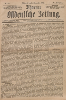 Thorner Ostdeutsche Zeitung. Jg.28, № 267 (13 November 1901) + dod.