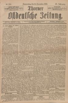 Thorner Ostdeutsche Zeitung. Jg.28, № 268 (14 November 1901) + dod.