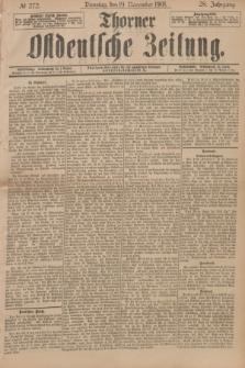 Thorner Ostdeutsche Zeitung. Jg.28, № 272 (19 November 1901) + dod.