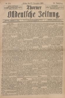 Thorner Ostdeutsche Zeitung. Jg.28, № 274 (22 November 1901) + dod.