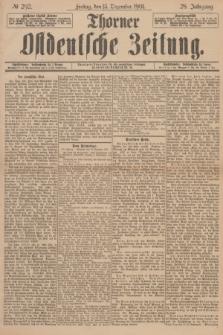 Thorner Ostdeutsche Zeitung. Jg.28, № 292 (13 Dezember 1901) + dod.