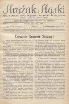 Strażak Śląski : organ Związku Straży Pożarnych Województwa Śląskiego. R.5, nr 13 (1 lipca 1931)
