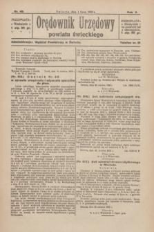 Orędownik Urzędowy Powiatu Świeckiego. R.5, nr 49 (1 lipca 1926)