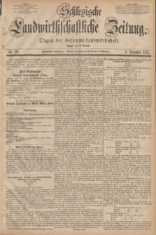 Schlesische Landwirthschaftliche Zeitung : Organ der Gesammt Landwirthschaft. Jg.16, Nr. 98 (8 December 1875)