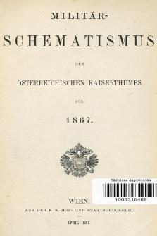 Militär-Schematismus des Österreichischen Kaiserthumes für 1867