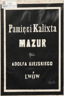Pamięci Kalixta : mazur