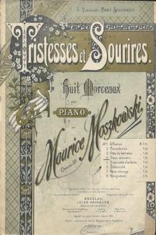 Tristesse et sourires : huit morceaux pour piano : oeuvre 58. No 4, Vieux souvenir
