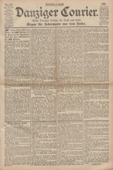 Danziger Courier : Kleine Danziger Zeitung für Stadt und Land : Organ für Jedermann aus dem Volke. Jg.14, Nr. 178 (1 August 1895)
