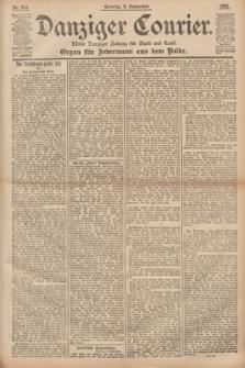 Danziger Courier : Kleine Danziger Zeitung für Stadt und Land : Organ für Jedermann aus dem Volke. Jg.14, Nr. 210 (8 September 1895) + dod.
