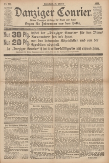 Danziger Courier : Kleine Danziger Zeitung für Stadt und Land : Organ für Jedermann aus dem Volke. Jg.14, Nr. 251 (26 Oktober 1895)