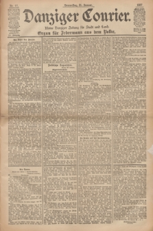 Danziger Courier : Kleine Danziger Zeitung für Stadt und Land : Organ für Jedermann aus dem Volke. Jg.16, Nr. 17 (21 Januar 1897)