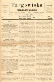 Targowisko : czasopismo dla handlu bydłem inierogacizną = Viehmerkt-Bericht : Fachorgan für den Internationalem Viehverkehr. 1893, nr9