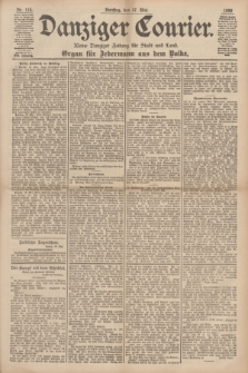 Danziger Courier : Kleine Danziger Zeitung für Stadt und Land : Organ für Jedermann aus dem Volke. Jg.17, Nr. 114 (17 Mai 1898)
