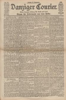 Danziger Courier : Kleine Danziger Zeitung für Stadt und Land : Organ für Jedermann aus dem Volke. Jg.17, Nr. 217 (16 September 1898)