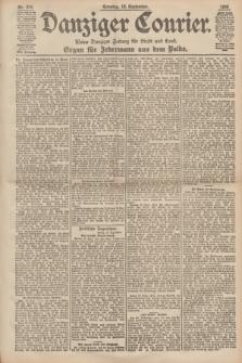 Danziger Courier : Kleine Danziger Zeitung für Stadt und Land : Organ für Jedermann aus dem Volke. Jg.17, Nr. 219 (18 September 1898) + dod.