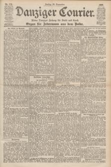 Danziger Courier : Kleine Danziger Zeitung für Stadt und Land : Organ für Jedermann aus dem Volke. Jg.18, Nr. 276 (24 November 1899)