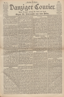 Danziger Courier : Kleine Danziger Zeitung für Stadt und Land : Organ für Jedermann aus dem Volke. Jg.19, Nr. 11 (14 Januar 1900) + dod.