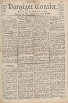 Danziger Courier : Kleine Danziger Zeitung für Stadt und Land : Organ für Jedermann aus dem Volke. Jg.19, Nr. 16 (20 Januar 1900)