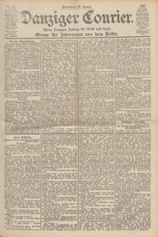 Danziger Courier : Kleine Danziger Zeitung für Stadt und Land : Organ für Jedermann aus dem Volke. Jg.19, Nr. 22 (27 Januar 1900)