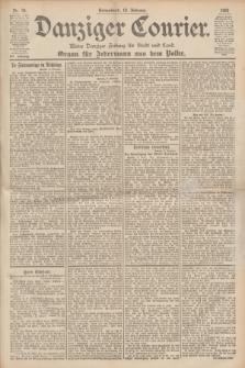 Danziger Courier : Kleine Danziger Zeitung für Stadt und Land : Organ für Jedermann aus dem Volke. Jg.19, Nr. 34 (10 Februar 1900)