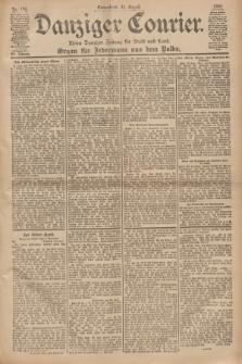 Danziger Courier : Kleine Danziger Zeitung für Stadt und Land : Organ für Jedermann aus dem Volke. Jg.19, Nr. 186 (11 August 1900)