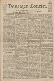 Danziger Courier : Kleine Danziger Zeitung für Stadt und Land : Organ für Jedermann aus dem Volke. Jg.19, Nr. 207 (5 September 1900)