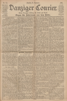 Danziger Courier : Kleine Danziger Zeitung für Stadt und Land : Organ für Jedermann aus dem Volke. Jg.19, Nr. 212 (11 September 1900)