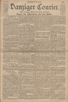 Danziger Courier : Kleine Danziger Zeitung für Stadt und Land : Organ für Jedermann aus dem Volke. Jg.19, Nr. 220 (20 September 1900)