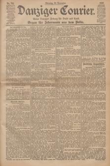 Danziger Courier : Kleine Danziger Zeitung für Stadt und Land : Organ für Jedermann aus dem Volke. Jg.19, Nr. 266 (13 November 1900)