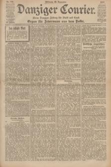 Danziger Courier : Kleine Danziger Zeitung für Stadt und Land : Organ für Jedermann aus dem Volke. Jg.19, Nr. 278 (28 November 1900)