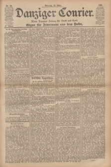 Danziger Courier : Kleine Danziger Zeitung für Stadt und Land : Organ für Jedermann aus dem Volke. Jg.20, Nr. 60 (12 März 1901)