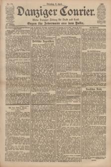 Danziger Courier : Kleine Danziger Zeitung für Stadt und Land : Organ für Jedermann aus dem Volke. Jg.20, Nr. 78 (2 April 1901)