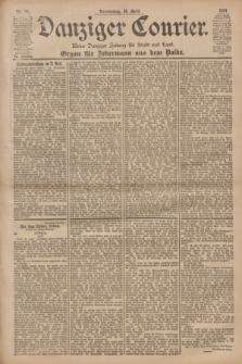Danziger Courier : Kleine Danziger Zeitung für Stadt und Land : Organ für Jedermann aus dem Volke. Jg.20, Nr. 96 (25 April 1901)