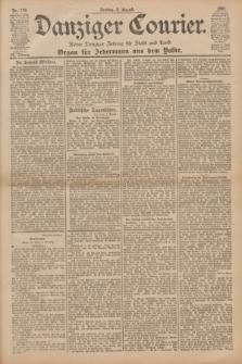 Danziger Courier : Kleine Danziger Zeitung für Stadt und Land : Organ für Jedermann aus dem Volke. Jg.20, Nr. 179 (2 August 1901)