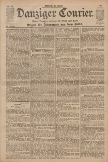 Danziger Courier : Kleine Danziger Zeitung für Stadt und Land : Organ für Jedermann aus dem Volke. Jg.20, Nr. 195 (21 August 1901)