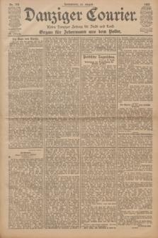 Danziger Courier : Kleine Danziger Zeitung für Stadt und Land : Organ für Jedermann aus dem Volke. Jg.20, Nr. 204 (31 August 1901)