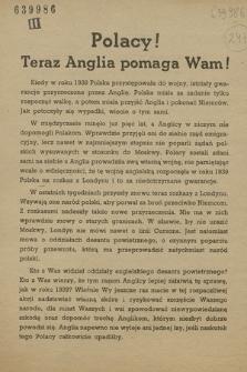 Polacy! : Teraz Anglia pomaga Wam!