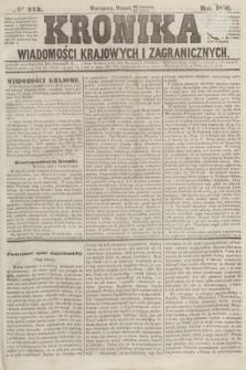 Kronika Wiadomości Krajowych i Zagranicznych. [R.1], № 212 (11 listopada 1856)
