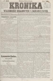 Kronika Wiadomości Krajowych i Zagranicznych. [R.2], № 217 (21 sierpnia 1857)