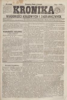 Kronika Wiadomości Krajowych i Zagranicznych. [R.3], № 212 (13 sierpnia 1858)