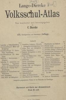Lange-Diercke Volksschul-Atlas