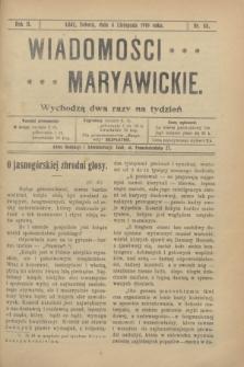Wiadomości Maryawickie. R.2, nr 88 (5 listopada 1910)