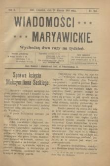 Wiadomości Maryawickie. R.2, nr 103 (29 grudnia 1910)