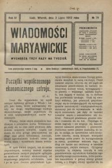 Wiadomości Maryawickie. R.4, № 79 (2 lipca 1912)