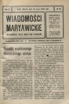 Wiadomości Maryawickie. R.4, № 88 (23 lipca 1912)
